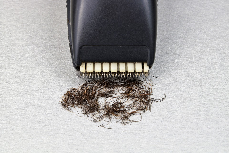 Black shaver near hair