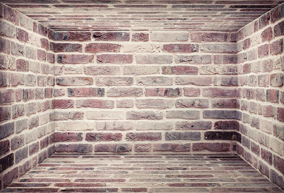 wand steine ziegelrot lounge perspektive textur - Wandsteine