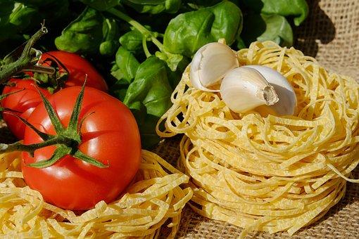 Noodles, Tagliatelle, Pasta, Raw
