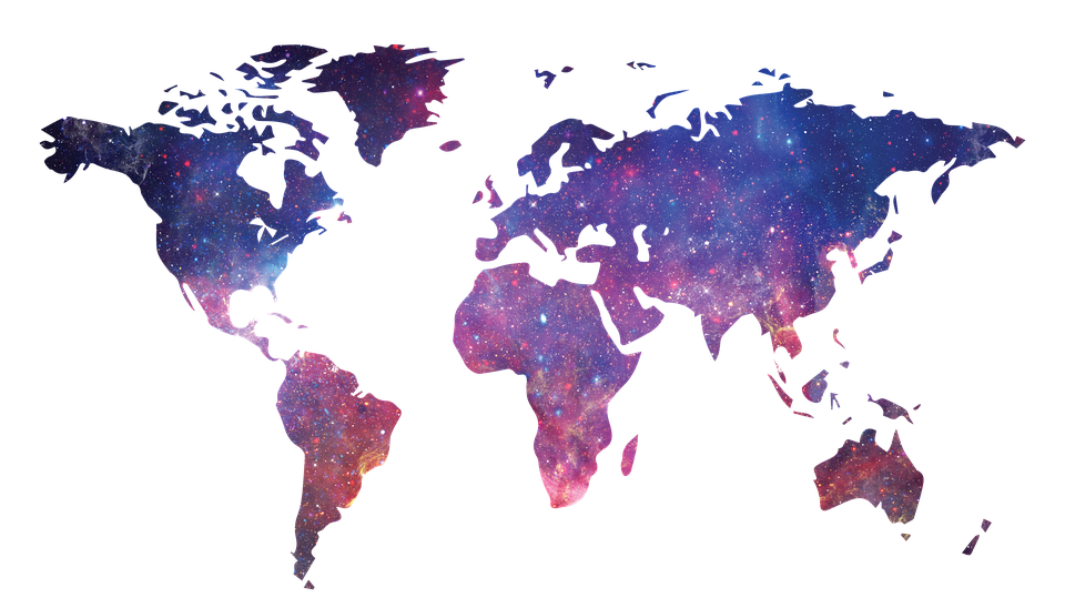 Galaxy world map of the free image on pixabay galaxy world map map of the world space world map gumiabroncs Gallery