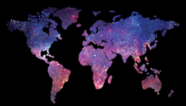 Galáxia, Mapa Do Mundo, Espaço, Mundo