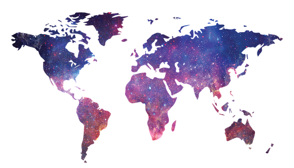 銀河, 世界地図, スペース, 世界, 地図, 惑星, 地球, 宇宙, 空
