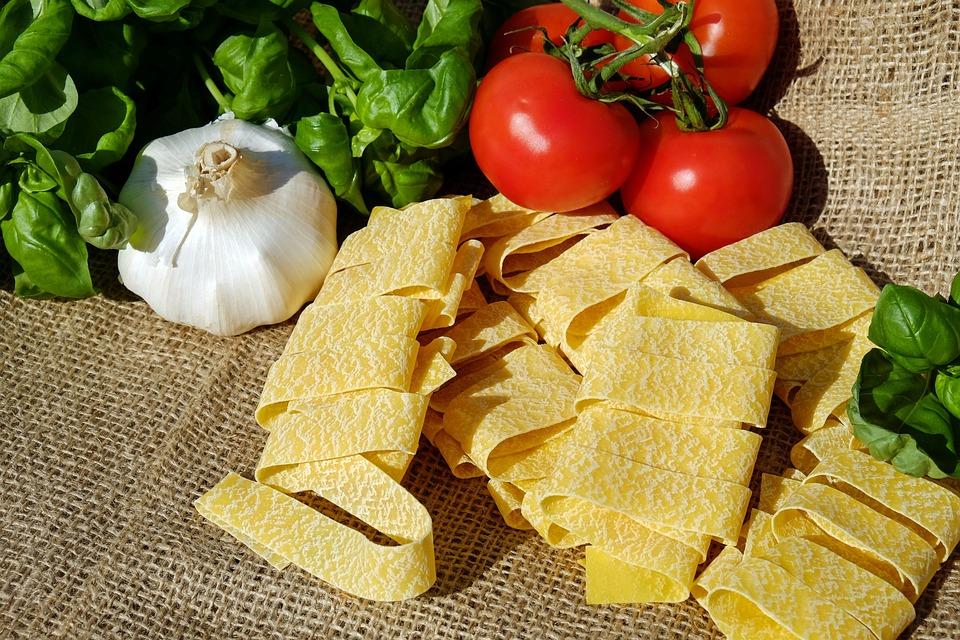 Tagliatelle, Pasta, Raw, Cibo, Carboidrati, Alimentari