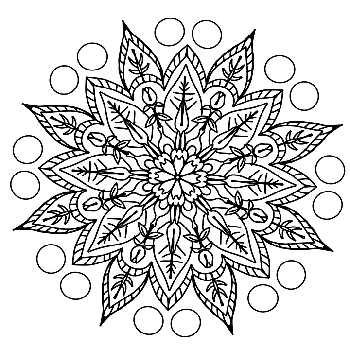 Drawing Pencil Pattern Coloring Page Mandala