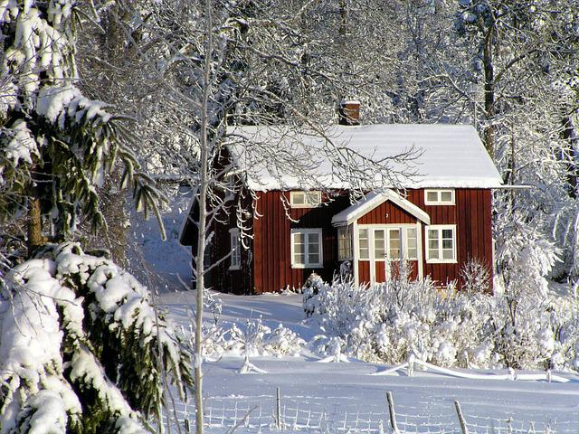 Free Photo House Cottage Winter Red Cottage Free