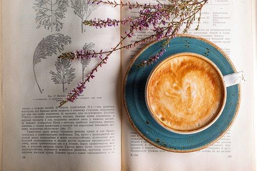コーヒー, カプチーノ, カフェ, クローズアップ, ドリンク