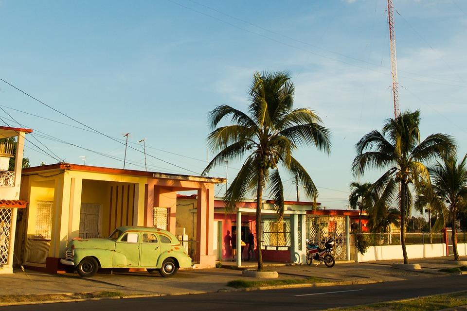 Kuba, Samochód, Palma, Zobacz, Retro, Turystyki