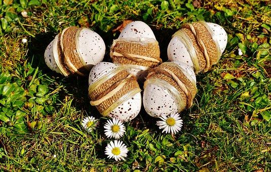 Wielkanoc, Jajko, Pisanki, Łąka, Wiosna