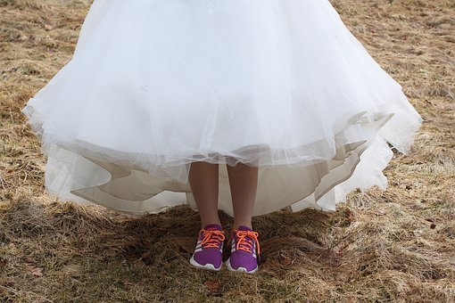 Wedding Dress, Sneakers, White, Dress
