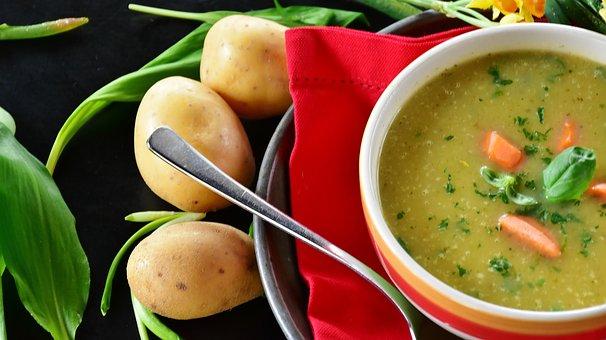 Sopa De Patata, Papa, Sopa, Ajo De Oso