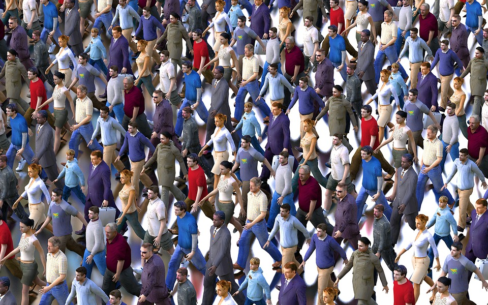Crowd, Men, Women, Casserole, Followers, Community
