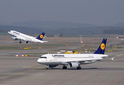 Lufthansa, Aircraft, Airport, Departure