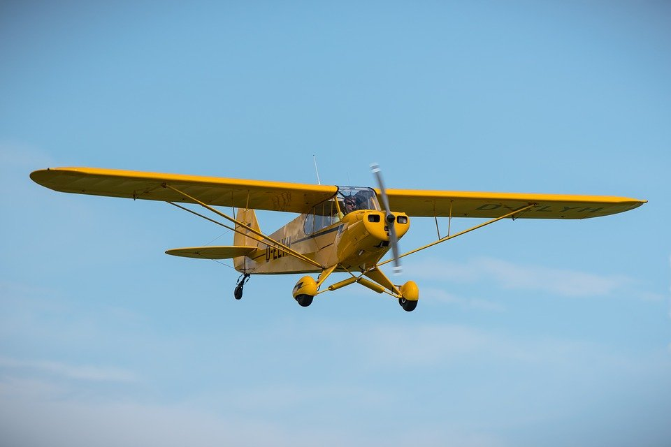 Piper Cub, Aircraft, Propeller, Yellow