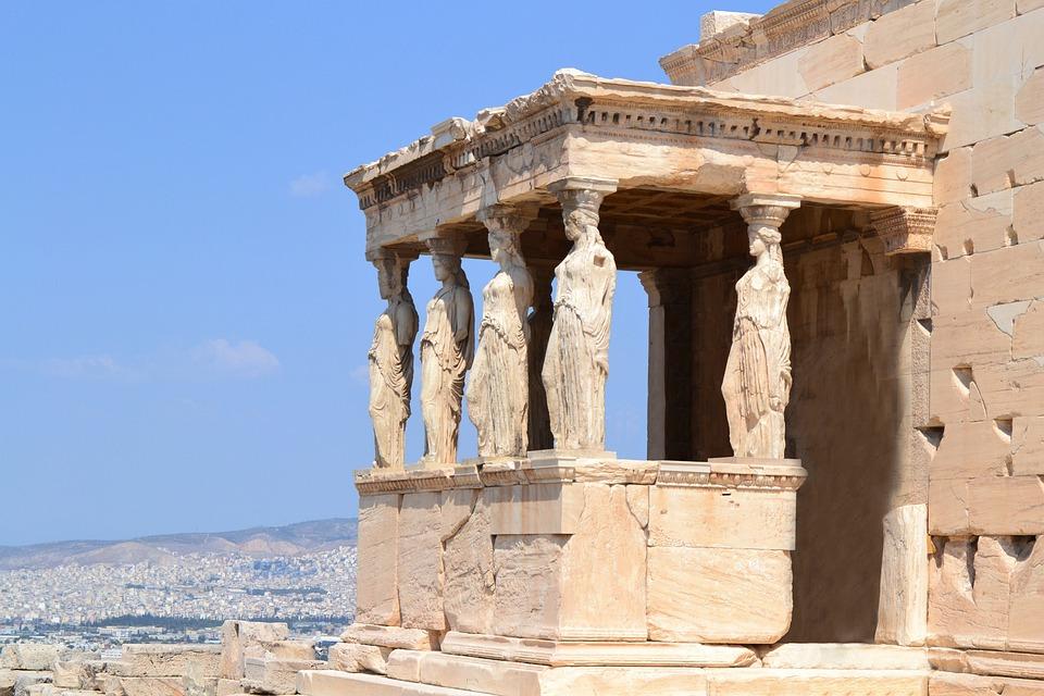Voyage, Ville, Athènes, Acropole, Vieille Ville, Grèce