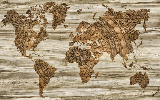 Map Paper Wood Information Background