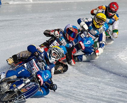 Iceracing, Motorcycles, Winter, Sports