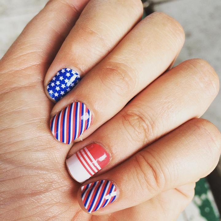 Art D'Ongle, 4 Juillet Ongles, Mains, Jamberry