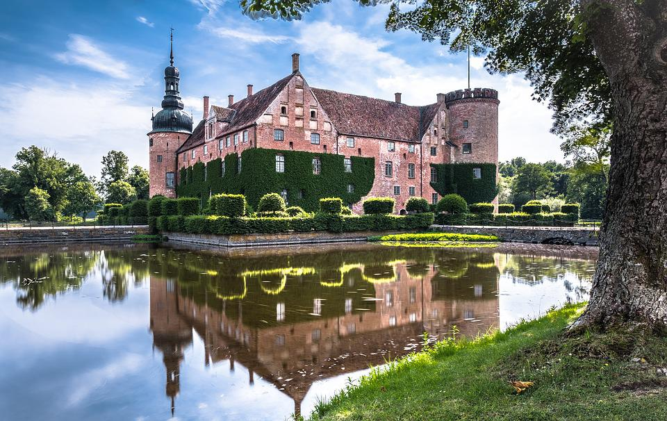 Sweden, Moated Castle, Southern Sweden, Historically