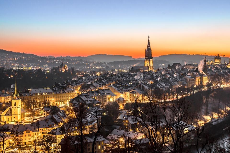 Schweiz, Bern, Nacht