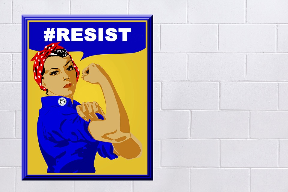 Rosie The Riveter Poster Sign Woman Symbol Vintage