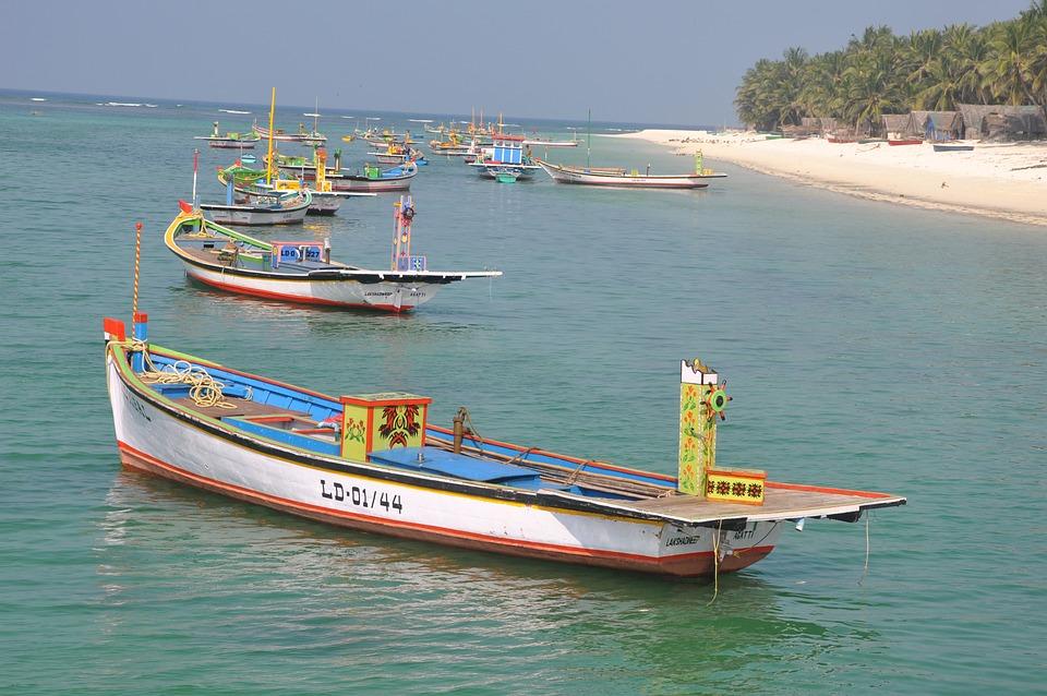 Beach, Boat, Boats, Lakshadweep