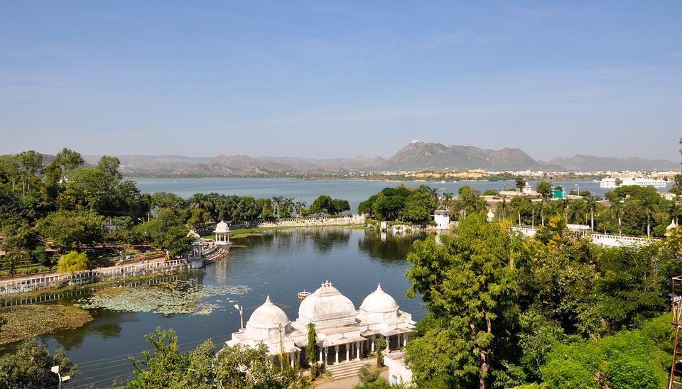 Jezioro Пичола, Lake City, Udaipur, Rajathan, Indie