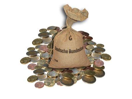Geld, Geldsack, Euro, Münzen, Kleingeld