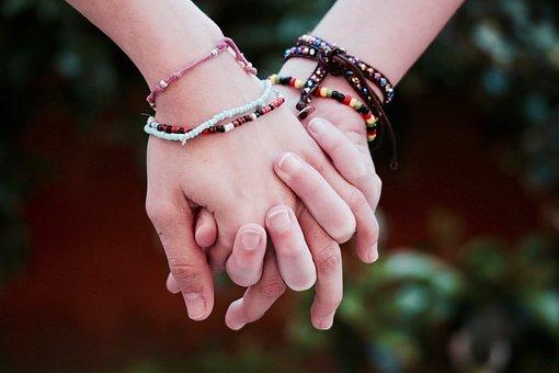 Freundschaft Brüderlichkeit Hände Union Le