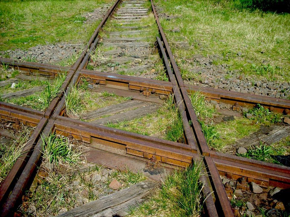 Junction, Carriles, Tren, Gleise, Cruce, De Viaje