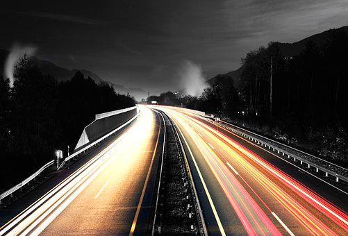 Highway, Long Exposure, Autos, Road