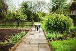 wheelbarrows, garden