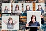 gestures, collage