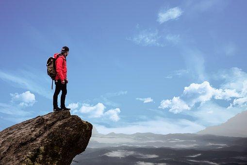 山, ハイキング, アドベンチャー, 風景, 自然, 旅行, スポーツ, 人