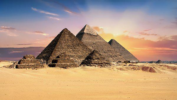 Pyramids Egypt Giza Archeology Monument Ar