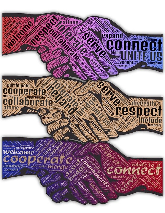 Handshake, Regard, Cooperate, Connect, Unite