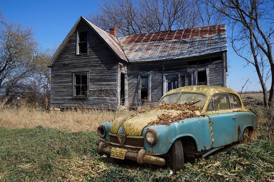 Borgward Hansa, Isolated, Oldtimer, Scrap Car, Scrap