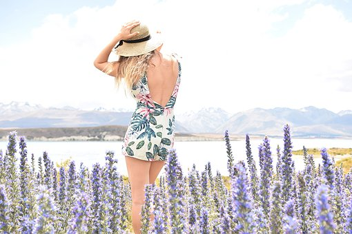 Travel, Women, Flowers, View, Girl