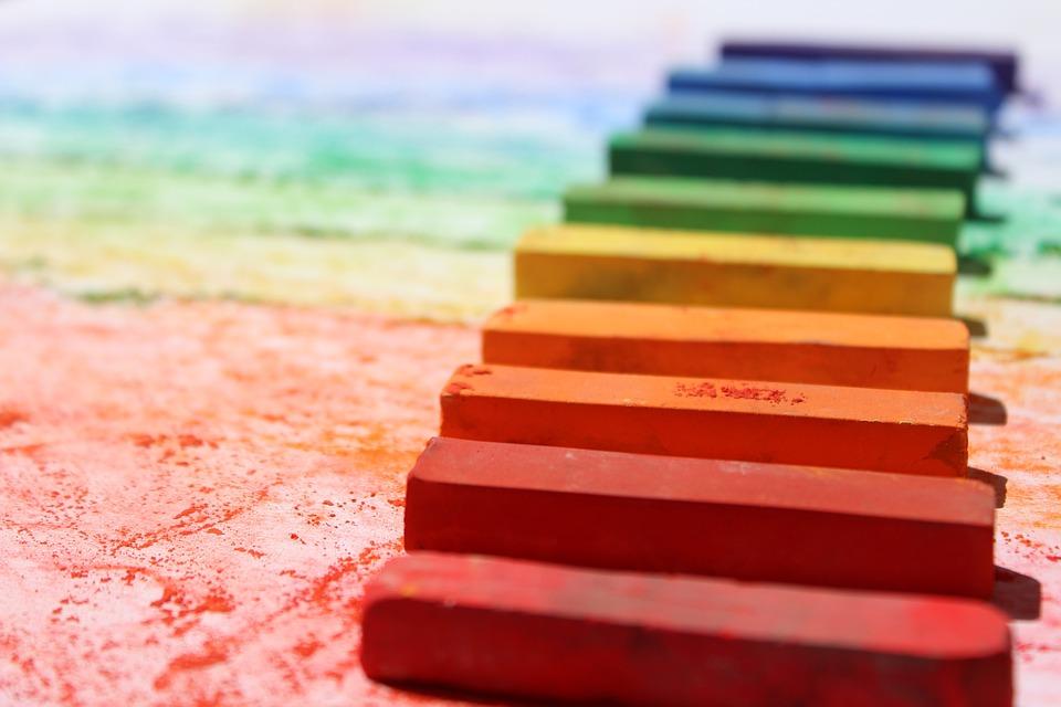 クレヨン, パステル, カラフルです, 色, 学校, チョーク, 描画, 教育, デザイン, 創造性, 芸術