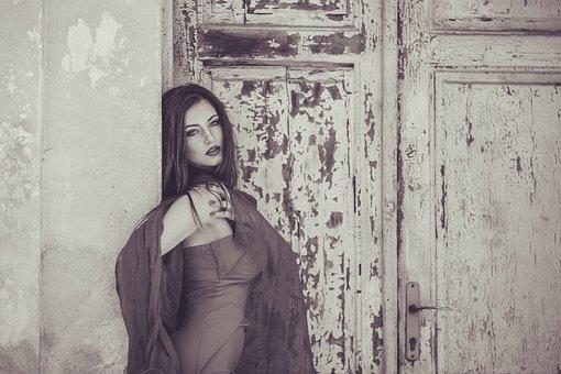 Девушка, Портрет, Зима, Холодная