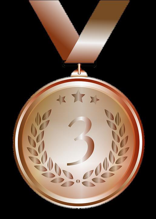 Medaile, Bronz, Design, Průhledné Pozadí, Výzdoba