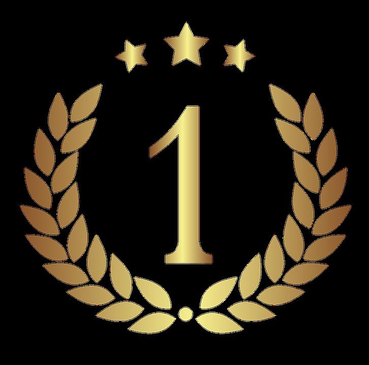 Medal, Gradient, Gold, Silhouette, Emblem, Symbol