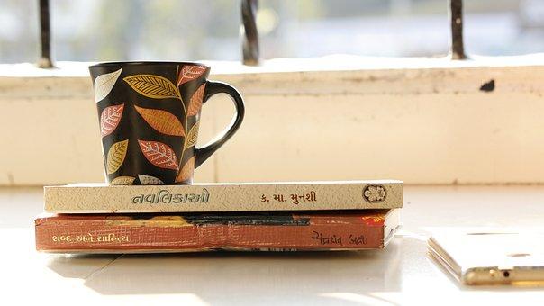 書籍, コーヒー, レジャー, 読書, カップ, 茶, 読み取り, 破る