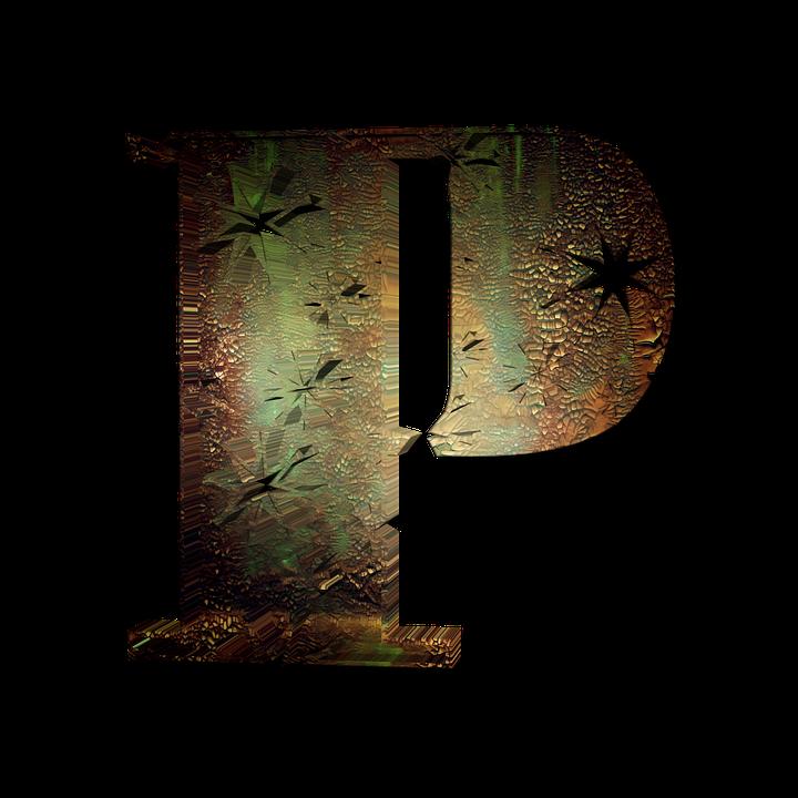 P Letter 3d Png Graphics Alphabet