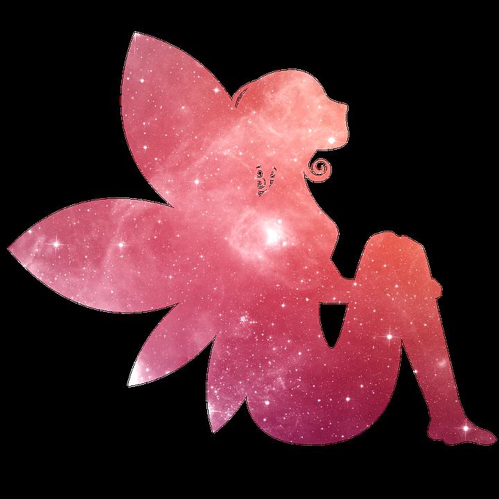 妖精, 銀河, 銀河の妖精, スター, スペース, 魔法, 空, 紫の, ファンタジー, 宇宙, ピンク, 銀