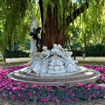 Parque de María Luisa, glorieta de Bécquer, Sevilla