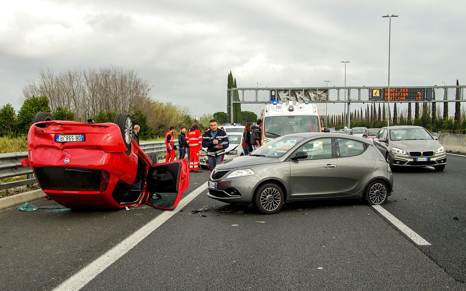 Car Accident, Clash, Rome, Highway