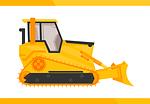 bulldozer, utility vehicle, ind