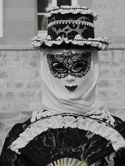 Masked Ball, Masquerade, Carnival, Panel