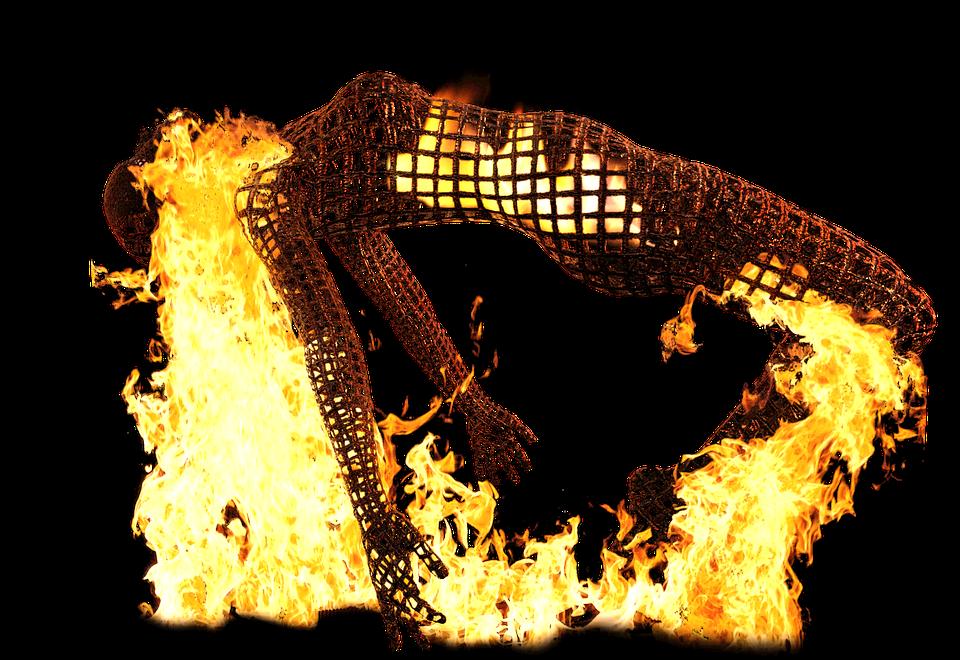 Выгорание, Бессилен, Скульптура, Спать, Мысли, Пожар