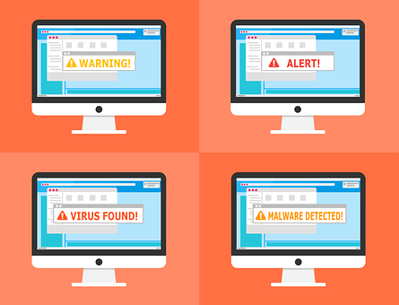 Warning, Alert, Detected, Malware